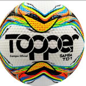 Bola de Futebol de Campo Topper Samba TD1 Campo Oficial – Colorida | R$80