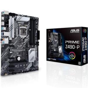 Placa-Mãe Asus Prime Z490-P, Intel LGA 1200, ATX, DDR4 | R$1050