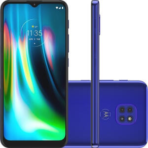 Motorola Moto G9 Play Azul Safira   R$1169