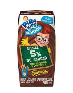 Bebida Láctea Sabor Chocolate Pirakids School 200ml | R$1,49
