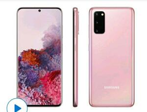 Smartphone Samsung Galaxy S20 128GB Cloud Pink   R$3.099