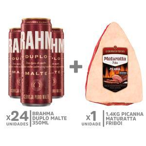 Kit Picanha Maturatta 1.4kg + 24 Brahma Duplo Malte R$89