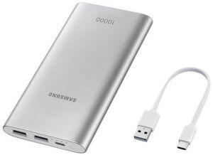 Power Bank Samsung 10.000mAh Fast Charge USB Tipo C - EB-P1100CSPGBR / EB-P1100CPPGBR | R$ 69
