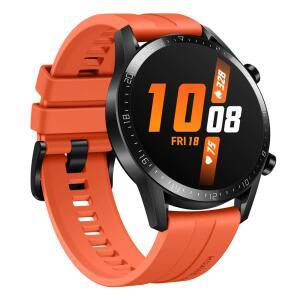 "Smartwatch Huawei Watch GT 2 (46mm) Laranja com Tela Amoled de 1.39"" R$799"
