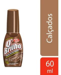 Cera Líquida para Sapatos Marrom 60ml, Q'Brilho (Min.2) | R$1,6