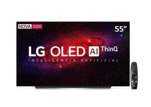 "Smart TV OLED 55"" UHD 4K LG Wi-Fi, Bluetooth, HDR, Inteligência Artificial ThinQ AI | R$5700"