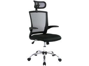 Cadeira de Escritório Giratória Presidente Nell - Preta | R$285