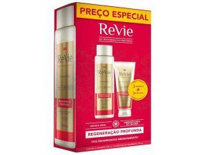 [APP - CLIENTE OURO] Kit Shampoo e Máscara Revie Regeneração Profunda | 2 kits | R$15 cada