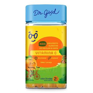Vitamina C Kids Dr Good Suplemento Pastilha Laranja 120 Gomas | R$30