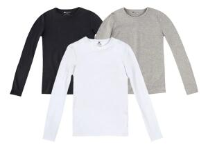 Kit 3 Camisetas Manga Longa Branco Cinza E Preto G Hering | R$25