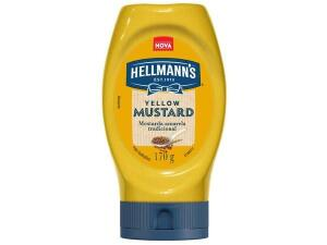 [App+Ouro+Pay=R$2.74]Mostarda Amarela Tradicional Hellmanns 170g