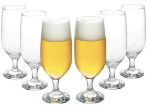 Conjunto de Taças de Vidro para Cerveja 6 Peças - 300ml Nadir Floripa | R$30