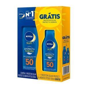 3 KITS do Protetor Solar Corporal Nivea FPS50 200ml + FPS50 100ml | R$18 CADA