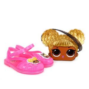 Sandália Infantil Grendene Kids LOL Queen Be Com Pochete - Pink - R$40