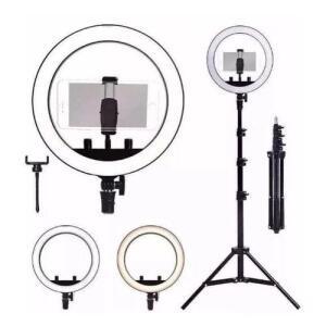 Kit Completo Ring Light 10 Polegadas Com Tripé Dimmer Youtuber Selfie Pro | R$66