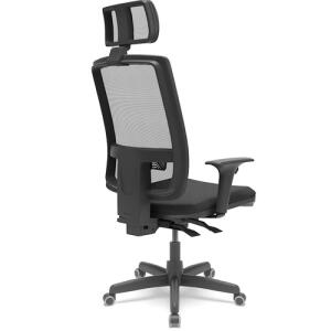 [Com AME R$ 657] Cadeira Presidente Brizza Apoio Cabeça Braço 3D assento couro - Plaxmetal