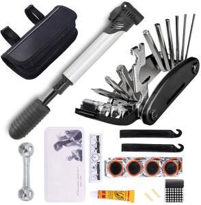 Kit de ferramentas de reparo de pneu de bicicleta 16 em 1 | R$63