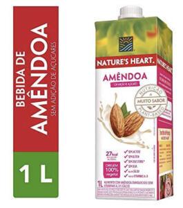 [Prime | Recorrência] Bebida Vegetal, Natures Heart, Amêndoa, 1L | R$9
