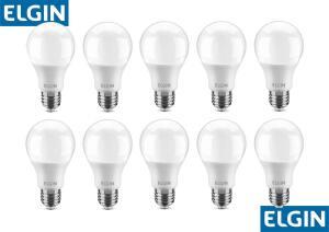 Kit Lâmpadas LED 10 Unidades Branca E27 9W | R$55