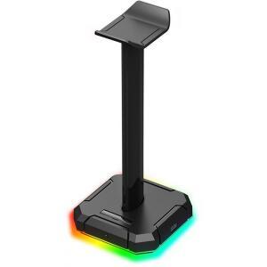 Suporte para Headset Redragon Scepter Pro RGB, Black, HA300 | R$130