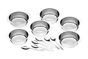 [CC Americanas + AME R$80] Kit Sobremesa Tramontina Service Inox - 12 peças | R$93