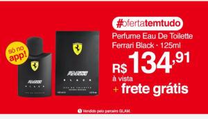 [AME R$115] Perfume Ferrari Black 125ml | R$ 135
