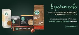 [Cashback] Experimente produtos Starbucks e receba o valor de volta.
