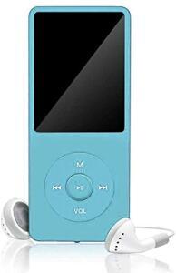 Mini MP3 MP4 Player Digital Portátil Azul   R$99
