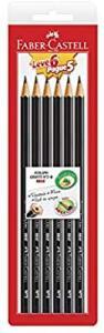 [PRIME]6 Un. Lápis Preto Nº 2B Sextavado, Faber-Castell, EcoLápis, 1205 Max, | R$ 3,8