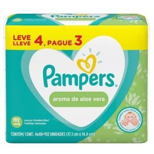 [APP]Toalhinhas Umedecidas Pampers Aloe Vera - 192 Unidades | R$13