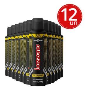 Kit Desodorante Aerosol Bozzano Extreme 90g - 12 Unidades | R$5,32 cada