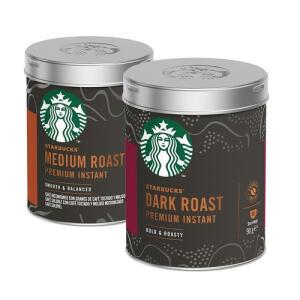 Kit de Cafés Solúveis Premium Starbucks Lata - 2 unidades | R$ 49
