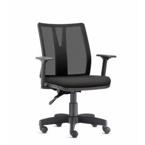 Cadeira de Escritório Addit Tela Mesh Ergonômica com braços N17 ABNT Tecido Crepe - Frisokar | R$ 860