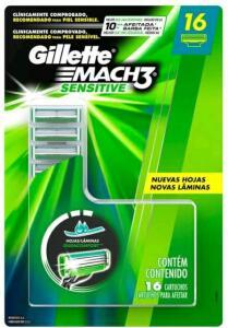 Carga para Aparelho de Barbear Gillette - Mach3 Sensitive 16 Cargas | R$ 80