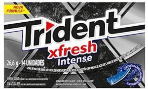 [PRIME] Trident Gomas de Mascar Fresh Intense, 26,6g  14un.   R$3
