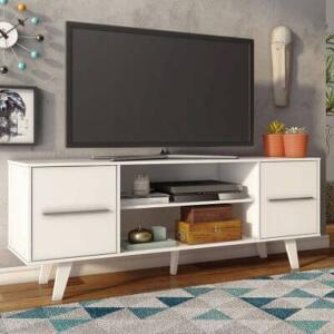 Rack para TV até 55 Polegadas Madesa Copenhagen Branco R$214