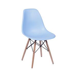 Cadeira Eames em Madeira e PP Azul