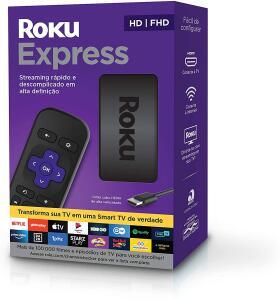 [PRIME] Roku Express - Streaming player Full HD. Transforma sua TV em Smart TV R$289