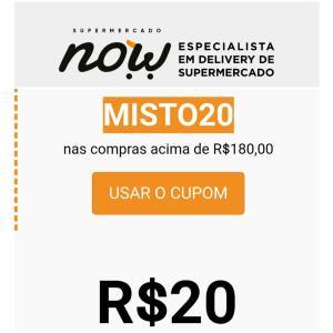 R$ 20,00 OFF ACIMA DE R$180,00 EM FRIOS E PÃES