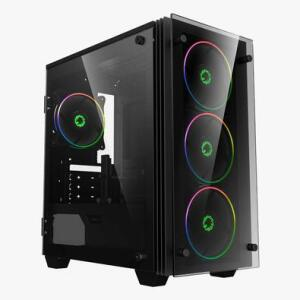 Gabinete Gamer, Preto Gamemax Mini Stratos H609 Argb, Vidro - R$268