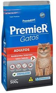 [Prime] Ração Premier Ambientes Internos Para Gatos Adultos Salmão - 500G | R$ 18