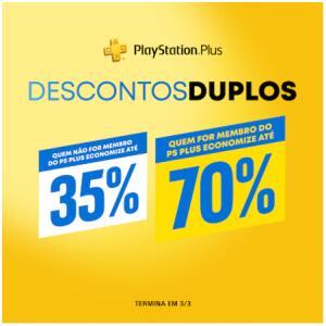 Playstation PSN - Descontos Duplos (pra quem tem Plus)