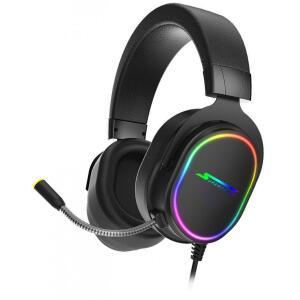 Headset Gamer SuperFrame, VELKA, 7.1 Surround, RGB, USB, Black | R$249