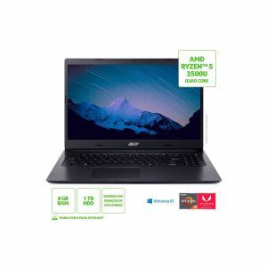 Notebook Acer Aspire 3 Intel AMD Ryzen 5 8GB 1TB HD Radeon 625 | R$3299