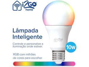 [APP + C.Ouro + Magalupay | 10 unid] Lâmpada Smart Bulbo i2GO RGB - 10W | R$ 63 cada