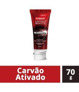 Creme Dental Colgate Luminous White Carvão Ativado 70g | 8 unid | R$3,04 cada