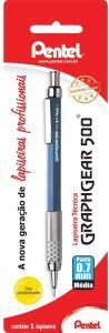 [Prime] Lapiseira Graphgear 500-0, 7mm, Pentel, SM/PG527-C, Azul | R$19