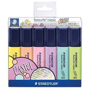 Marcador de Texto, Staedtler, Textsurfer Classic 6 Cores Pastel | R$25