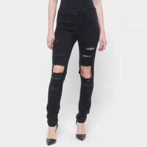 Calça Jeans Skinny Sawary Rasgos Feminina - Azul | R$60
