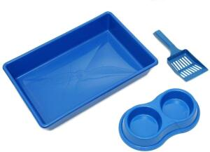 [PRIME] Kit Higienico Gato Four-Plastic Azul Four Plastic para Gatos | R$ 18
